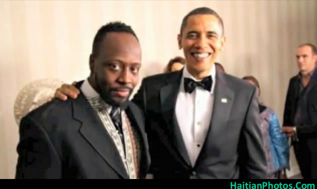 President Barack Obama and Wyclef Jean