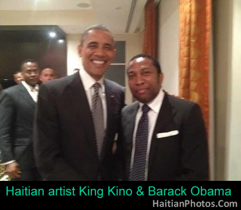 Haitian artist King Kino and Barack Obama