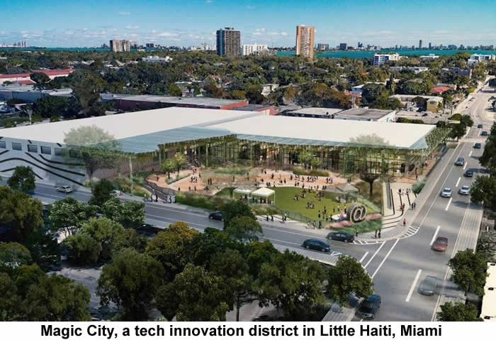 Magic City, a tech innovation district in Little Haiti, Miami