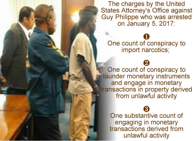 The charges against Guy Philippe arrested on January 5, 2017