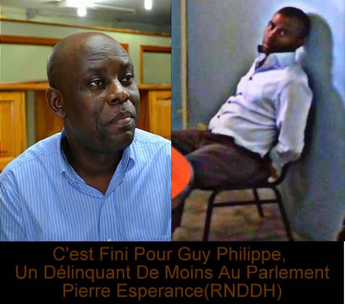 un delinquant de moins au parlement, Pierre Esperance