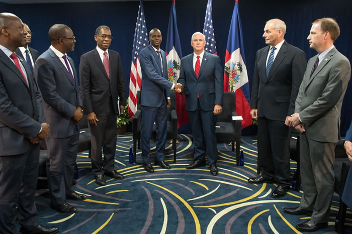 Jovenel Moise met the American Vice President Mike Pence