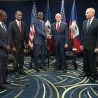Jovenel Moïse met the American Vice President Mike Pence