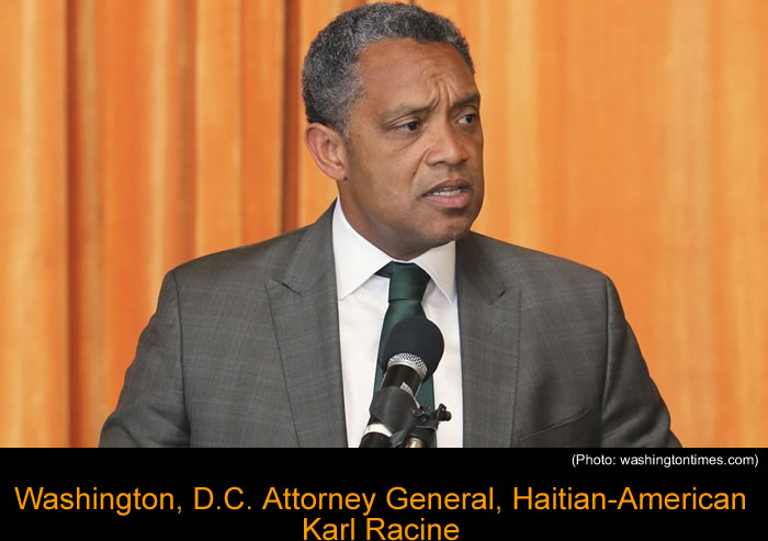 Washington, D.C. Attorney General, Haitian-American Karl Racine