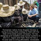 Andy Bogdan Bindea trying to bring clean energy to Haiti