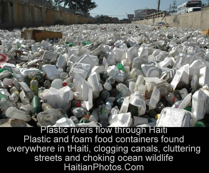 Plastic rivers flow through Haiti