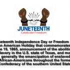 Juneteenth Independence Day or Freedom Day