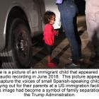 Immigrant child crying as she is separated from parents
