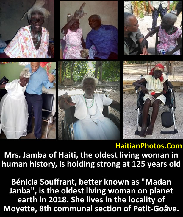 Mrs. Jamba of Haiti, oldest woman in Human History, is holding strong at 125