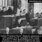 Paul E. Magloire addresses joint session of congress with Richard Nixon
