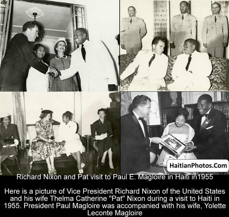 Richard Nixon and Pat visit to Paul E. Magloire in Haiti