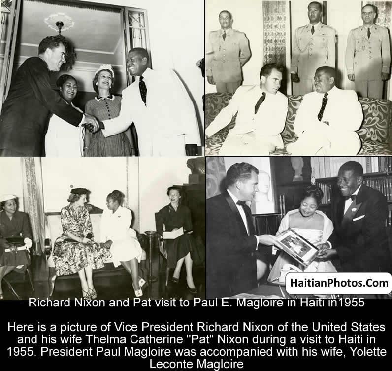 Richard Nixon and Pat visit to Paul E. Magloire in Haiti
