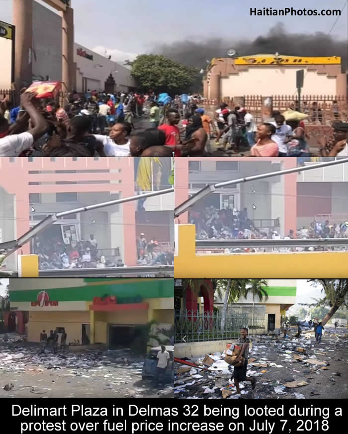 Delimart Plaza, Delmas 32, Port-au-Prince, Haiti being looted