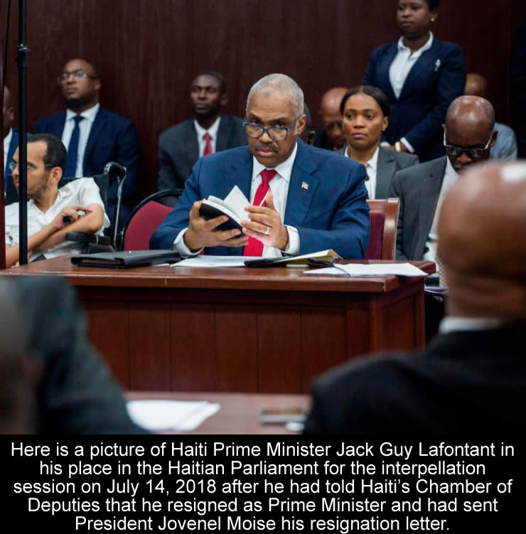 Jack Guy Lafontant resigns as Haiti Prime Minister