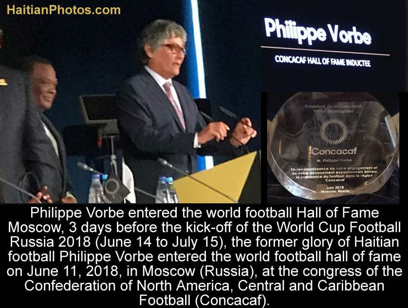 Philippe Vorbe entered world football Hall of Fame, CONCACAF