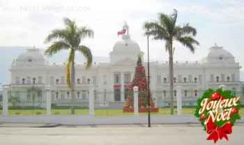 Haiti National Palace Decorated For Christmas