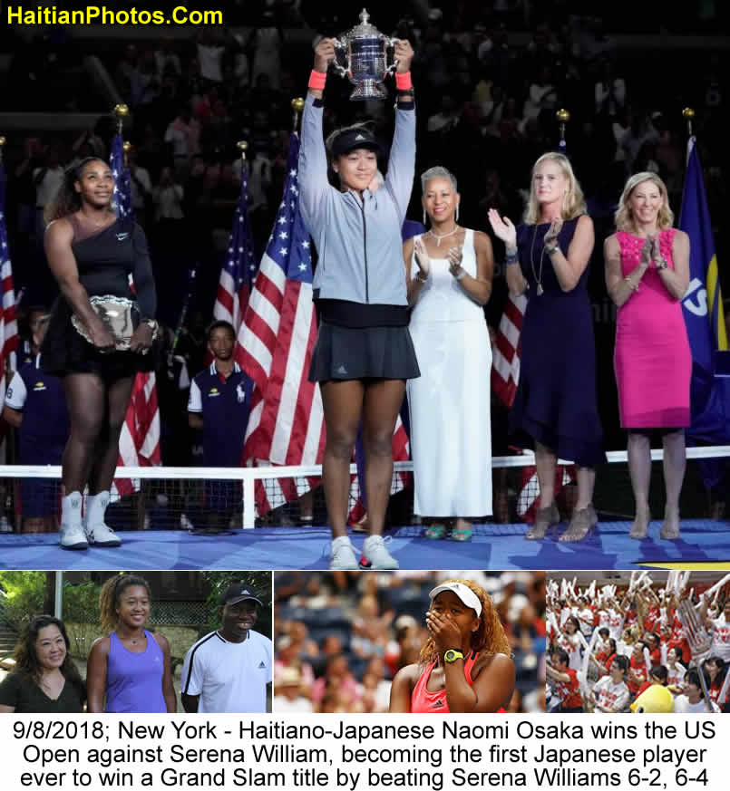 Haitiano-Japanese Naomi Osaka wins the US Open against Serena William