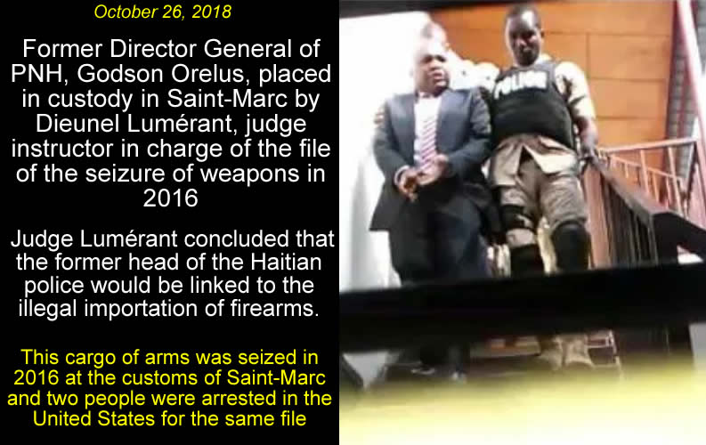 Former PNH Chief, Godson Orelus, arrested for illegal arm trafficking