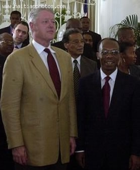 Bill Clinton And Jean-Bertrand Aristide