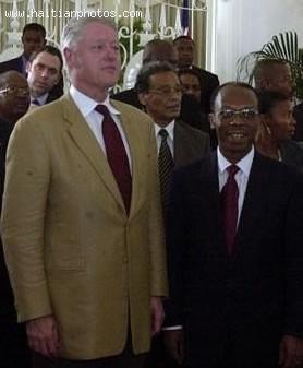 Bill Clinton And Jean-Bertrand Aristide