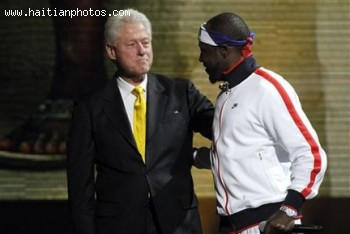 Bill Clinton And Wyclef Jean