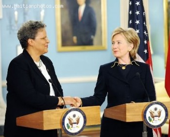 Hillary Clinton And Michele Duvivier Pierre-Louis