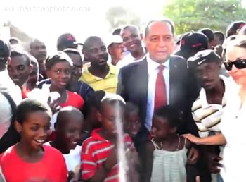 Jean-Claude Duvalier In Leogane With Children