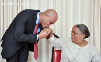Michel Martelly And Mirlande Manigat