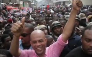 Michel Martelly In Cap-Haitian