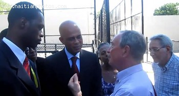 Michel Martelly, Pras And New York Mayor Bloomberg