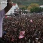 Michel Martelly In Fromf Of A Crowd In Cap- Haitian