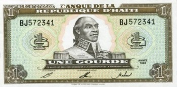 Haitian Currency With Toussaint L'Ouverture