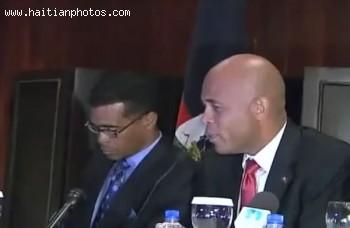 Michel Martelly In Dominican Republic