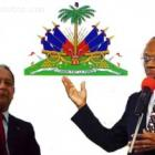 Jean-Claude Duvalier And Jean-Bertrand Aristide With Haitian Flag