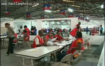 Vote Counting In Haiti Election 2010