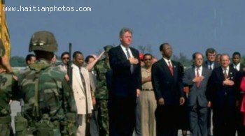 Jean-Bertrand Aristide And Bill Clinton