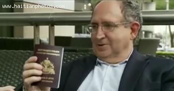 Ira Kurzban Showing The Haitian Passport For Jean-Bertrand Aristide