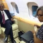 Jean-Bertrand Aristide And Midred Aristide In Airplane To Haiti