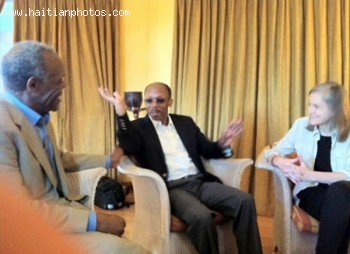 Jean-Bertrand Aristide, Mildred Aristide , Actor Danny Glover In South Africa