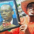 Fan Holding Jean-Bertrand Aristide Picture