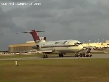 Haiti Trans Air As It Arrives At Miami International Airport