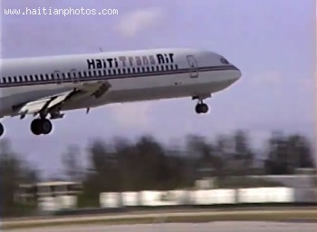 Haiti Trans Air Taking Off From Miami International Airport