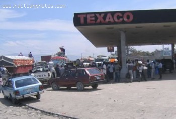 Texaco Gas Station In Haiti