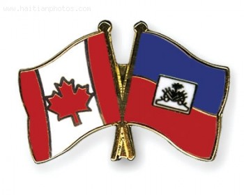 Canadaan Flag And Haitian Flag