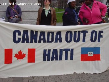 Protest For Canada To Get Out Of Haiti