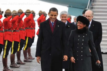 Michalle Jean, Governor General Of Canada And Barack Obama