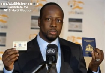 Wyclef Jean Showing Proof Of Citizenship - Haiti Election 2010