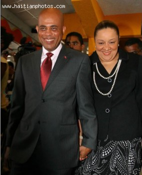 Michel Martelly and wife Sophia Martelly
