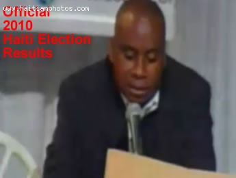 Result Of The 2010 Haiti Election By Conseil Electoral Provisoire CEP