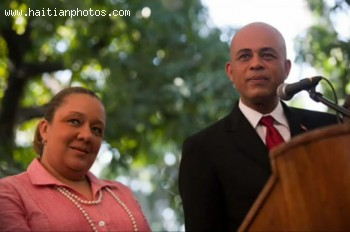 President-elect Michel Martelly and  wife Sophia Martelly